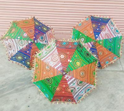 5 piece of Decorative Umbrella Folding Parasole ethnic vintage brolly embroidery