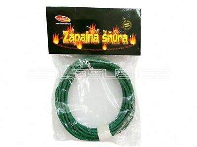 25 m ( 5 x 5 m)  Green Visco Fuse 2mm. Burning 1cm/1 sec Fireworks .