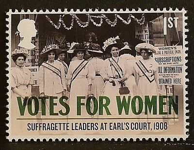 'Votes For Women - Suffragette Leaders at Earl`s Court 1908' on 2018 stamp