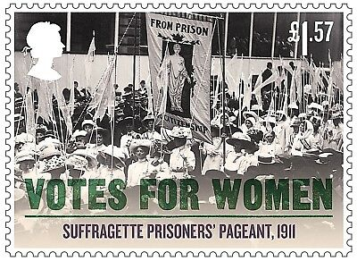 'Votes For Women - Suffragette Prisoners` Pageant, 1911' on 2018 stamp