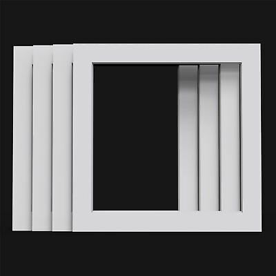 Pack of 4, 8, 12 and 24 White Picture Photo Mounts Small Large Square All Sizes