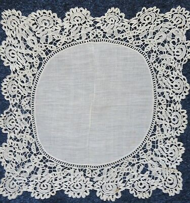 Antique Honiton Lace Handkerchief