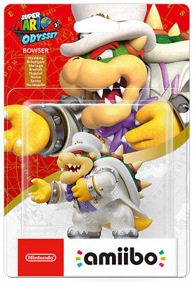 Amiibo Super Mario Odyssey Bowser Wedding Character Figure IT IMPORT NINTENDO