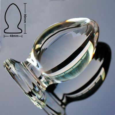 Anal Butt Plug-Glass - Big Large - 48mm - FREE Shipping
