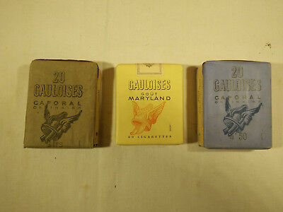 paquet de cigarettes plein collection rare Gauloises militaire