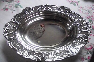 "Antique Wallace Grand Victorian Silverplate  Oval Platter/ Tray 14"" L X  9 3/4""w"