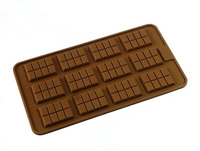 Silicone 12 Cell Mini Tablet Bar Chocolate Mould - FREE POSTAGE