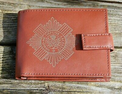 Scots Guards Men's  Leather Wallet complete with Gift Box