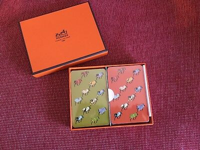 Brand new genuine Hermes Playing Cards - Jeux Bridge The Parade Set 2 - In box