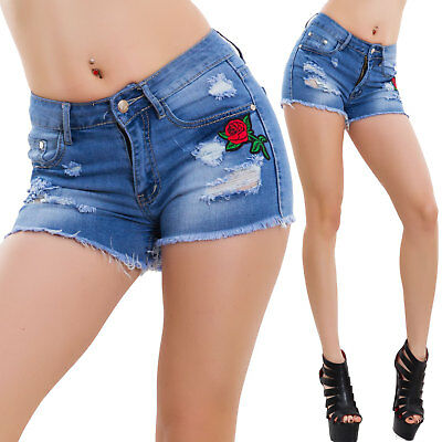 shorts woman jeans shorts cut Pink pinup hotpants sexy new F005