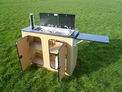 Camper Van Kitchen Pod Motorhome Furniture Unit Built to Order gas hob sink inc