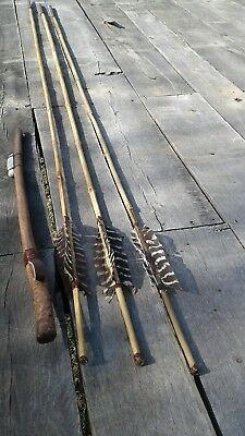 Atlatl with counter weight. Also 3 darts by.. River Rat