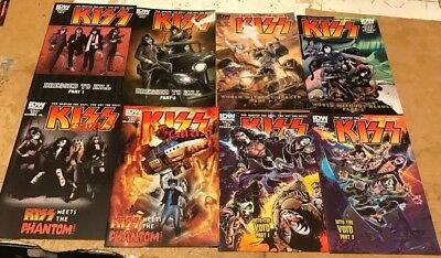 KISS 1-8 MIX Cover Set IDW FIRST PRINTING Gene Simmons Paul Stanley Peter Criss
