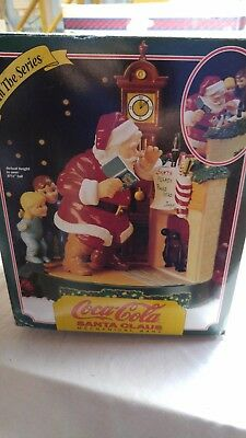 Coca Cola 1995 Santa Claus Mechanical Bank 3rd In the Series . Ertl
