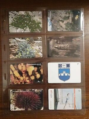 8 used phone cards from Croatia
