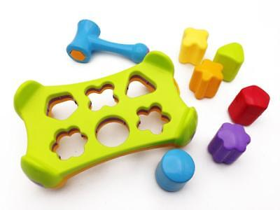 Baby Shape Sorter Hammer Bench & Blocks Play Set Pounding Game Toddler Kids Toy