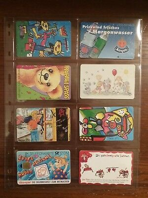 8 used phone cards from Germany