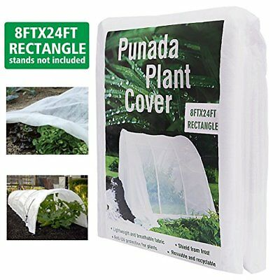 Premium Plant Covers Freeze Protection 8Ft x 24Ft Reusable Plant Covers for t...
