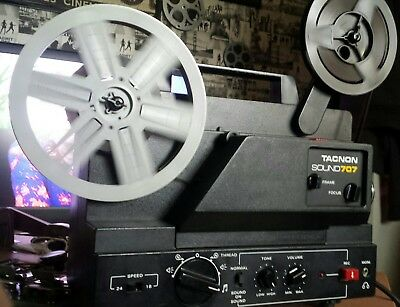 Tacnon Super 8 Sound 707 Projector With Take Up Spool And Power Lead.