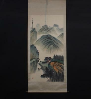 Fine Chinese Hand-painting Painting Scroll Zhangdaqian Marked-hill