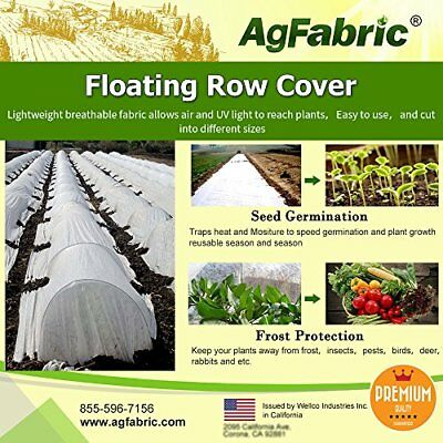 Agfabric Warm Worth Floating Row Cover & Plant Blanket 0.55oz Fabric of 12x50...