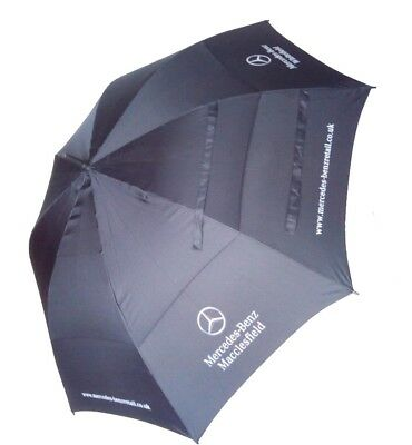 Mercedes Benz Golf Umbrella Black - Double Windproof Vented Canopy - Automatic