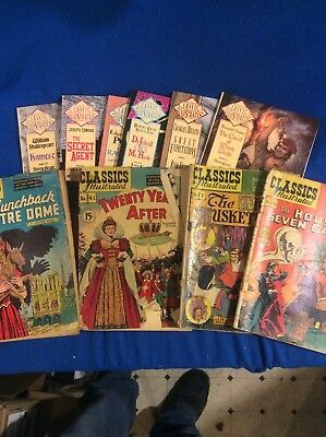 Classics illustrated combo Lot (10) vintage and modern.