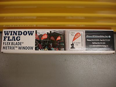 Window Flag ~ Flex Blade Metrix Window ~ by Above All Advertising