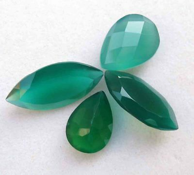 18.90 Cts GENUINE NATURAL GREEN ONYX MARQUISE CUT LOOSE GEMSTONE LOT