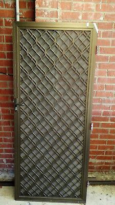 Aluminum Security Door Pre Owned With Pump 2 X Mesh And Key