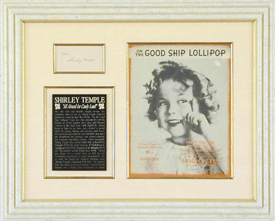 Shirley Temple - Autograph Sentiment Signed