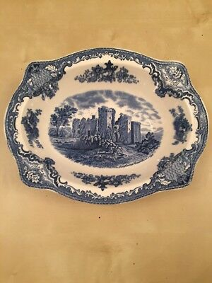 Johnson Brothers Old Britain Castles Windsor Blue and White 1x22cms Rimmed Bowl