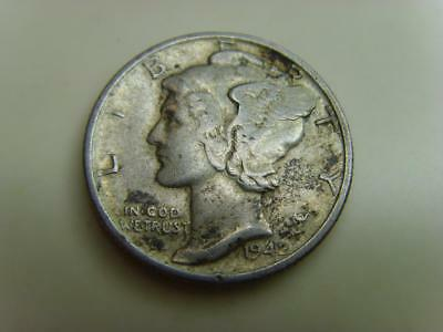 1942 Usa Dime Ten Cents Mercury United States Of America Coin