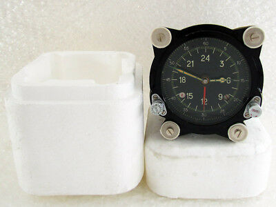 129-ChS 55M Vintage USSR Russian Aircraft TU-134 MIG HELICOPTER MI-9 Panel Clock