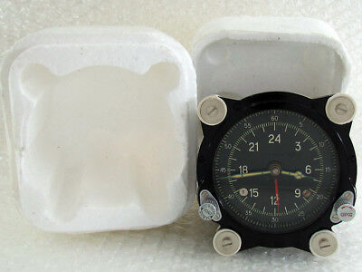129-ChS 55M Vintage Russian Aircraft TU-134 MIG HELICOPTER MI-9 Panel Clock NEW