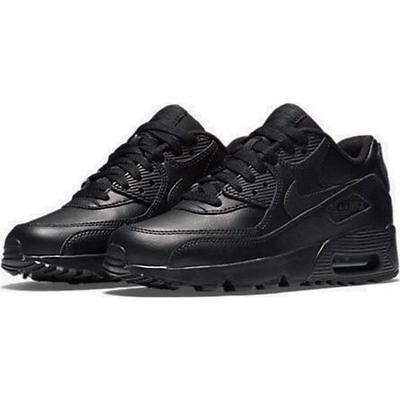 promo code 731f5 0dfec Nike 833412-001 Kid s Air Max 90 Leather Running Shoes, Black, 6.5 M