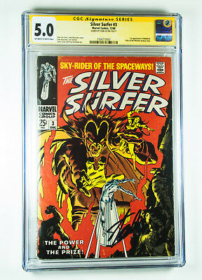 Silver Surfer 3 CGC 5.0 1st appearance of Mephisto signed by Stan Lee