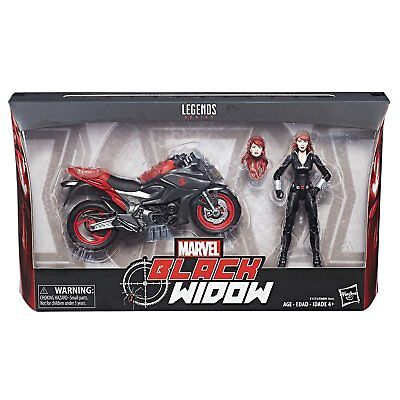 Marvel Legends Series Ultimate 6-Inch Black Widow With Motorcycle