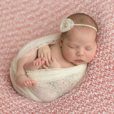Newborn Baby Lovely Hollow Wraps Blanket Posing Swaddle Cover Photography Prop