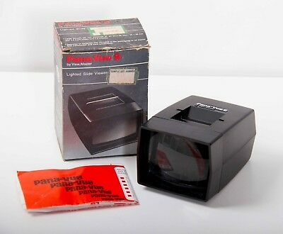 Pana Vue 9 lighted slide viewer in box by View master 24x36mm 26x26mm 5x5 mounts
