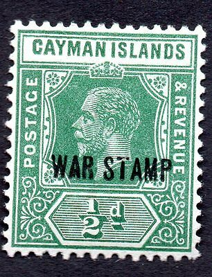 Cayman Islands 1919 King George V MH #MR5 Overprint War See Scan of Reverse