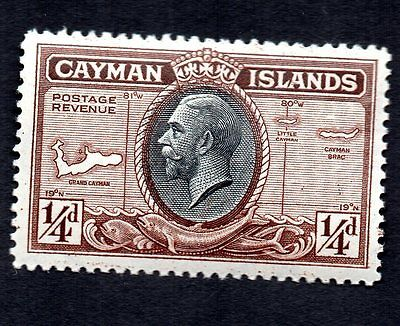 Cayman Islands 1935 King George V Map Dolphin MH #85 See Scan of Reverse