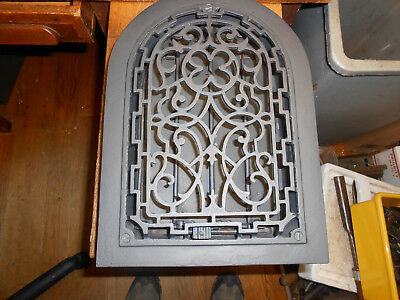 Antique Cast Iron Arch Top Wall Grate Heat  Vent 12 X 8 With Working Louvers