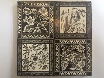 Original Victorian Tile Aesthetic Movement Sherwin & Cotton
