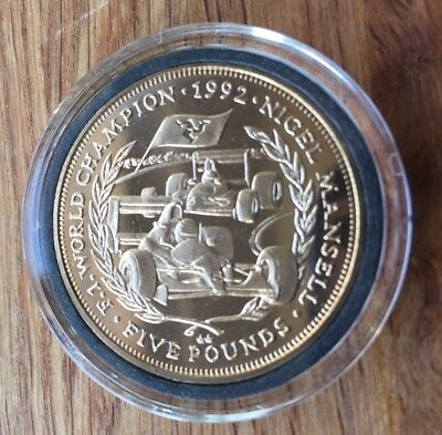 Isle Of Man £5 1993 Nigel Mansell Coin Cased Westminster Collection