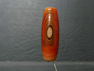(eL976) Tibet:   Beautiful DZI  GZI Natural Agate Bead Jewelery quality