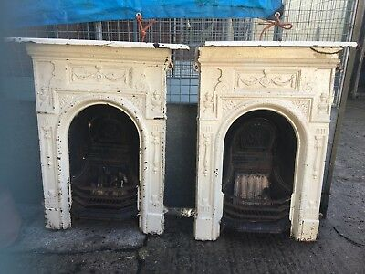 Set of Victorian White Fireplaces