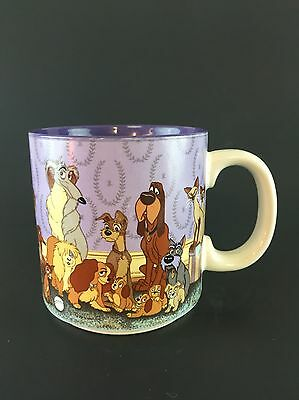 Disney's Lady And The Tramp Coffee Mug Tea Cup Vintage Collectible