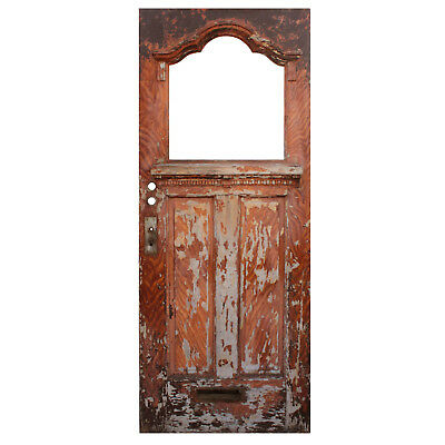 "Salvaged Antique 32"" Door, Early 1900s, NED791"