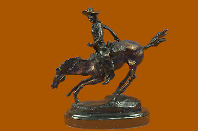 Bronze Sculpture Frederic Remington Arizona Cowboy on Horse Figurine Figure Art